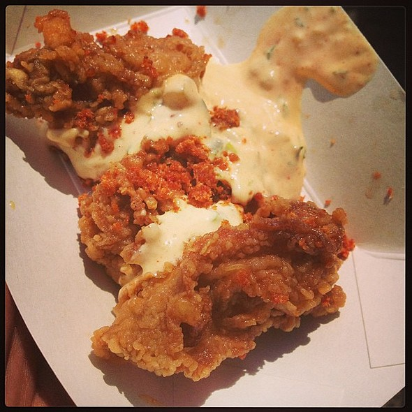 Deep-fried oysters with aioli @ Richmond Bacon Festival