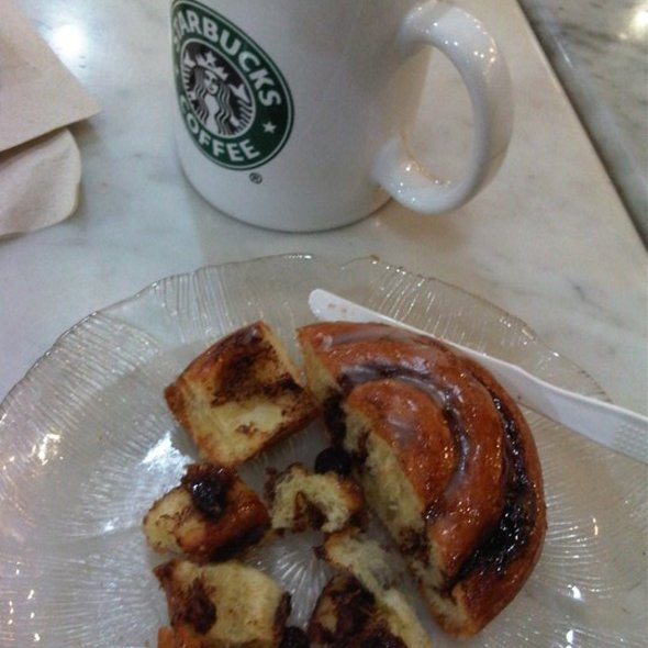 cinnamon raisin roll @ Starbucks coffee