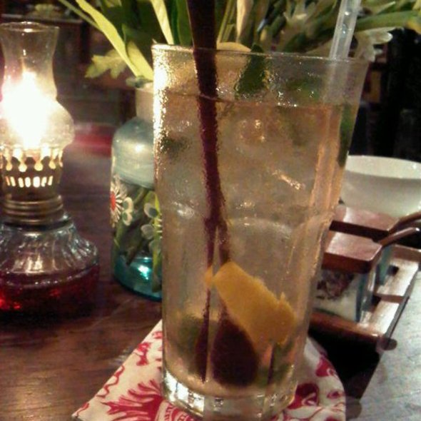 Lemongrass Ginger Ice Tea @ BIKU