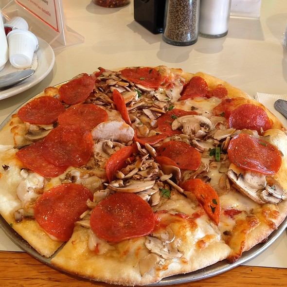 Pepporoni And Mushroom Pizza @ Bravo Restaurant