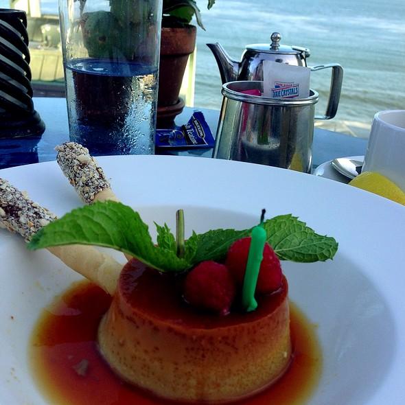 Espresso Flan - Geoffrey's Restaurant, Malibu, CA