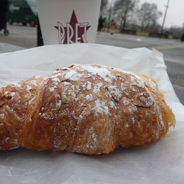 Almond croissant @ Pret a Manger, Tottenham Court Road, London