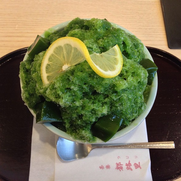 Green Tea Shaved Ice @ 茶寮 都路里 祇園本店
