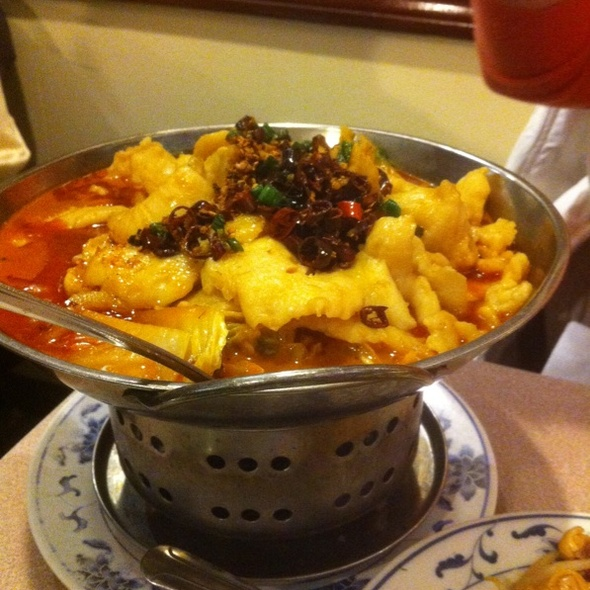 Szechuan Spicy Fish  @ Taiwan Cafe