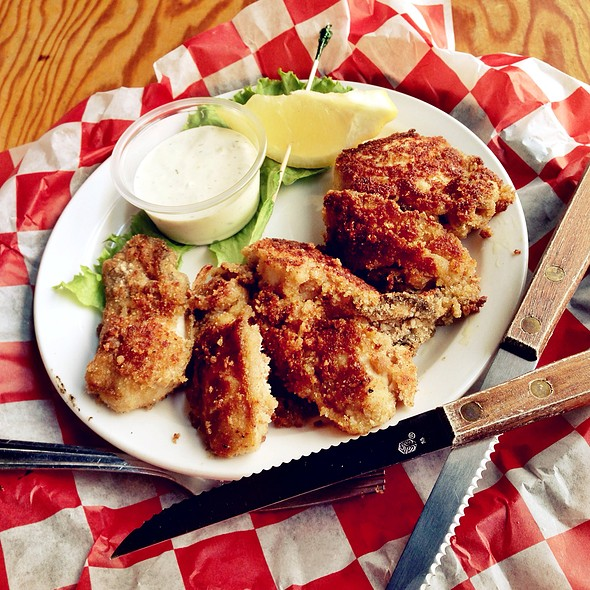 Hand Breaded Fried Oysters @ Sam's Seaside Cafe