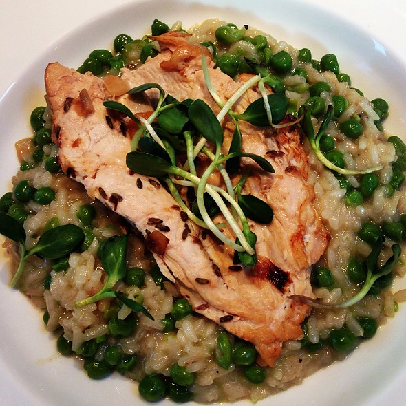 Lavender Chicken With Pea Risotto