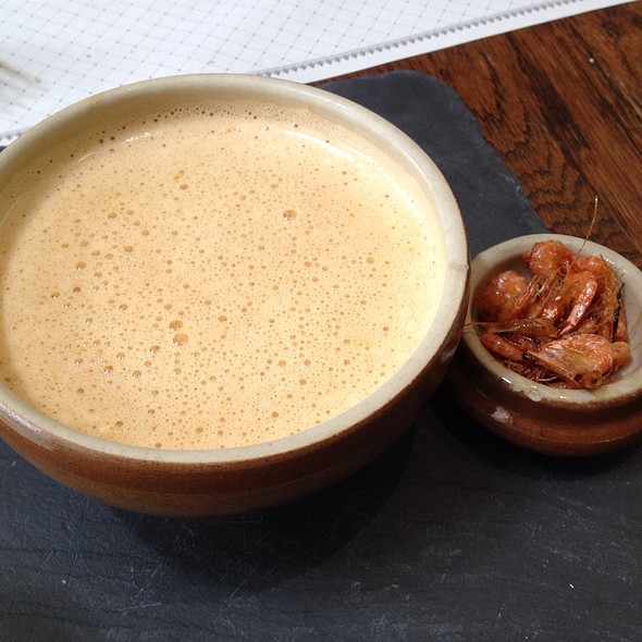 Dubois' Lobster Bisque With Organic Sauteed Mini Prawns