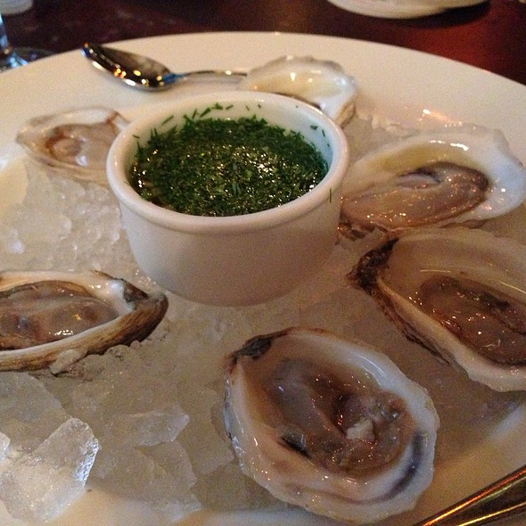 Oysters At The Breslin Bar Dining Room