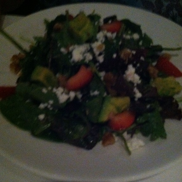 Spinach Salad with Strawberries Red Onion Feta Cheese And Red Wine Vinegarette - Cafe Del Rey, Marina Del Rey, CA