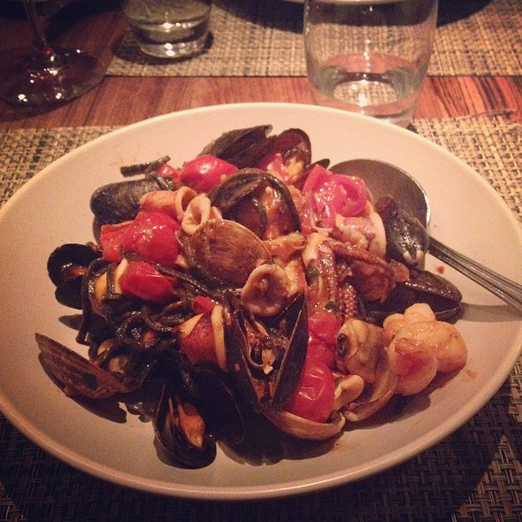 Squid Ink Pasta With Seafood @ Vicoletto