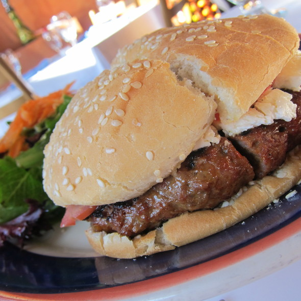 Mediterranean Burger @ Baklava Restaurant