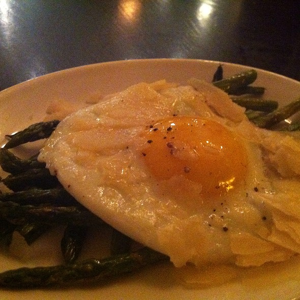 Asparagus With Shaved Parmesan And Sunny Side Egg - Tomasso Trattoria, Southborough, MA