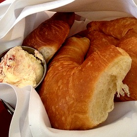 Croissants And Strawberry Butter - Chez Zee, Austin, TX