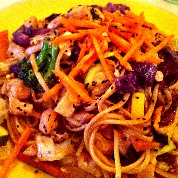 Vegetable Lo Mein @ Cafe Metro