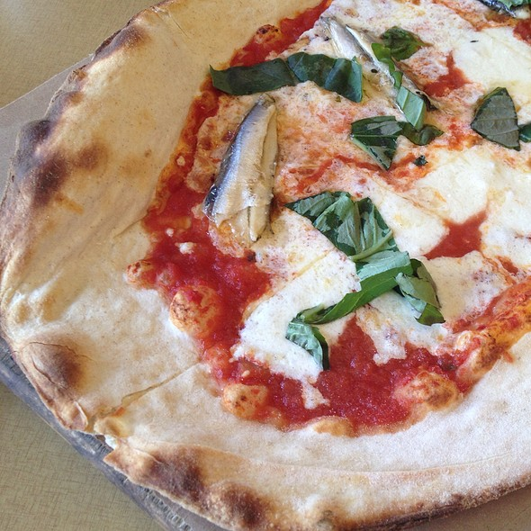 Pizza Margherita With Anchovies @ Little Dom's