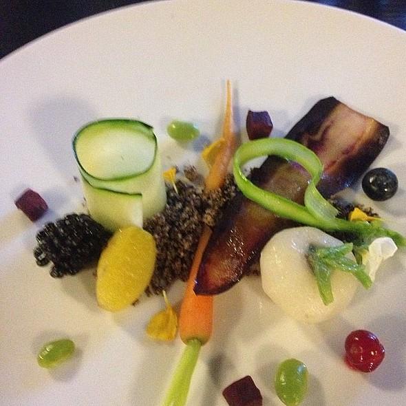 My favorite dish yesterday at Glass Berlin. Inspired by the fields of Tempelhof. @ Glass Berlin
