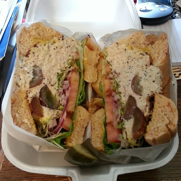 Chicken Salad Bagel Sandwich @ Lox of Bagels