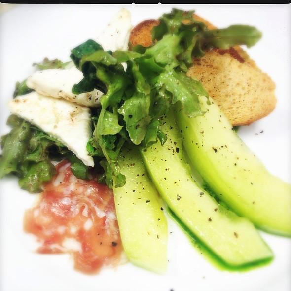La Honeydew Melon, Toscano Salami, Basil Oil & Grilled Feta @ Ste. Marie