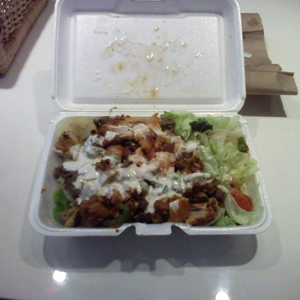 Chicken and Lamb Over Rice Combo Plate @ Mr. Khan's Best Halal Food
