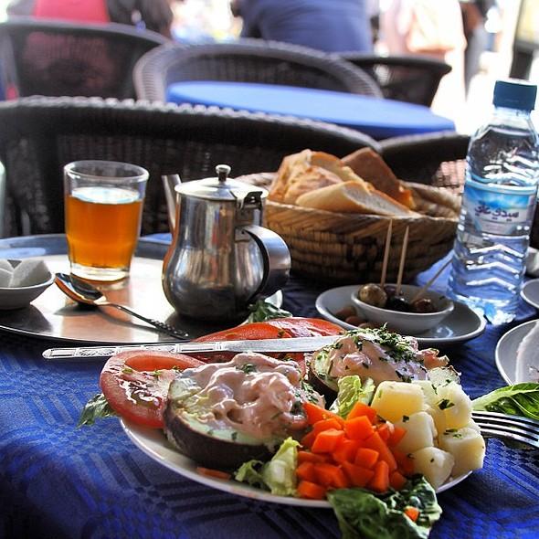 Lunch yesterday. @ Cafe Bir Anzarane