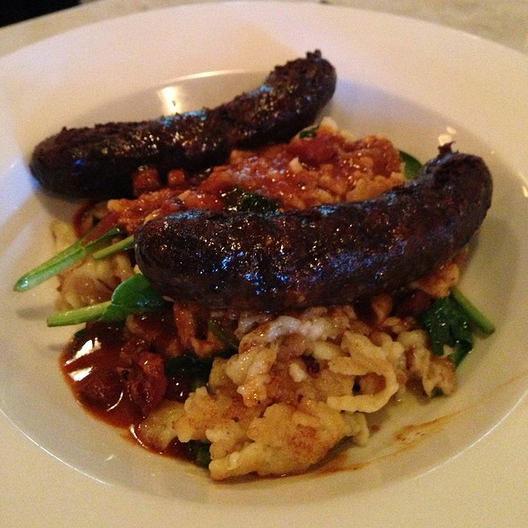 Homemade Smoked Game Sausage - Museum Tavern, Toronto, ON