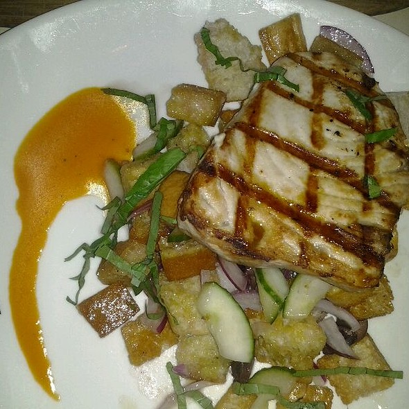 Swordfish With Panzanella Salad