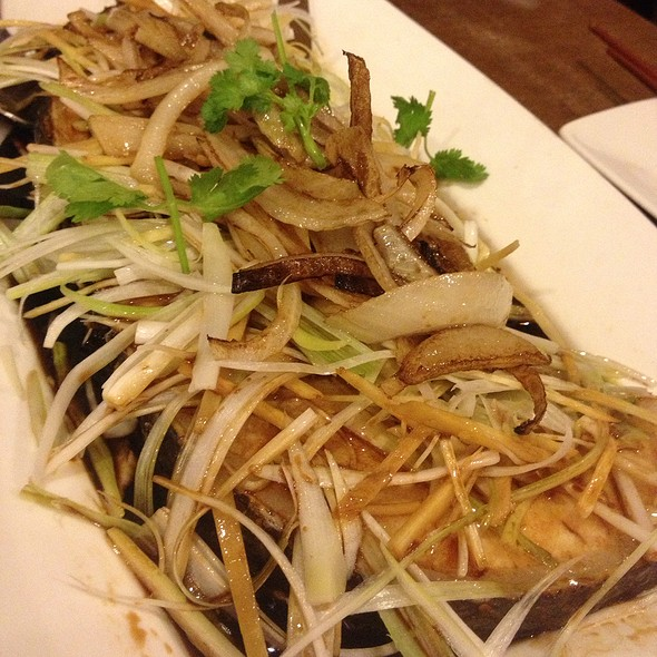Seabass With Ginger & Spring Onion @ Banana Leaf