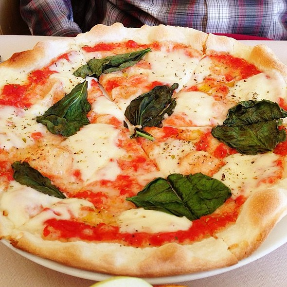 Margherita pizza from yesterday. Not as good as the pear pizza, but respectable @ Caffé BaoNecci