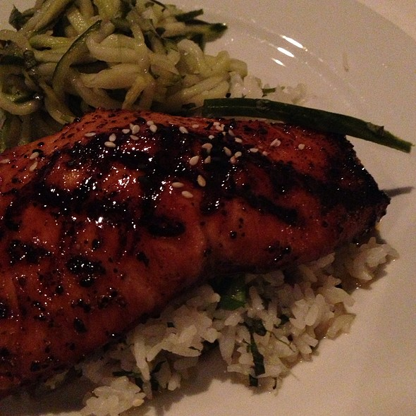 Orange Soy Glazed Salmon - Langdon's Restaurant, Mount Pleasant, SC