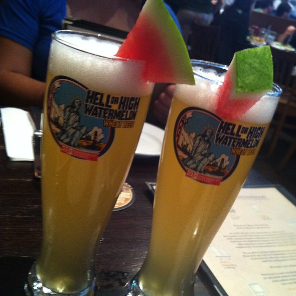 Hell Or High Watermelon Wheat Beer  @ 21st Amendment Brewery Cafe