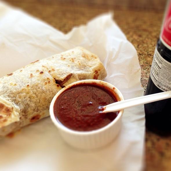 Chile Relleno Burrito @ La Azteca Tortilleria