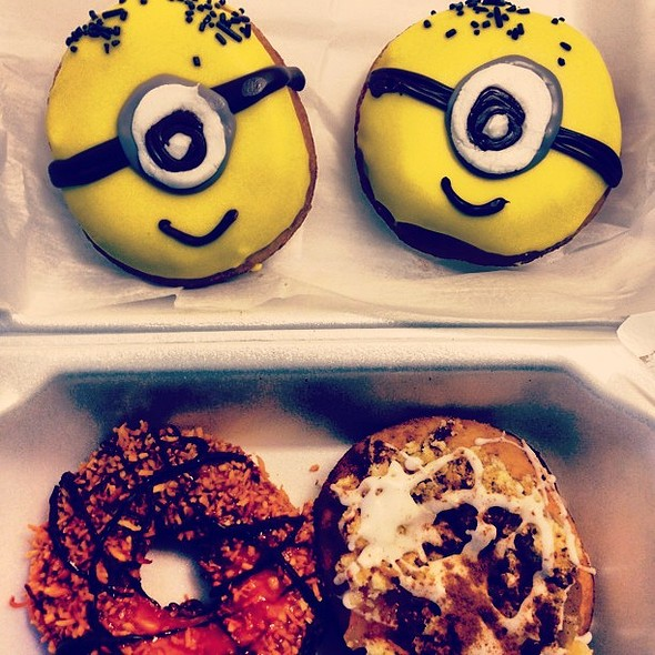 "Today's my ""cheat"" day and I was hoping to surprise Andy before he left for work with minion doughnuts, but he'll get them when he gets home."