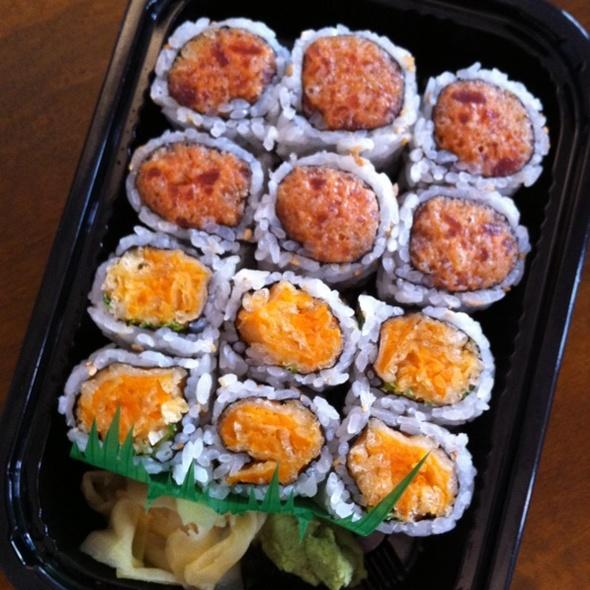 Crunchy Spicy Tuna & Sweet Potato Sushi Rolls @ 9 Edo Sushi Grill
