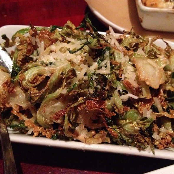 Crispy Brussel Sprout Leaves @ Salty Sow