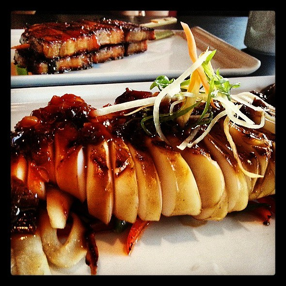 Grilled Squid, and Pork Belly @ Accent