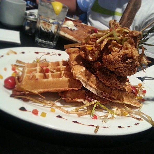 Fried Chicken & Bacon Waffles. @ Hash House A Go Go