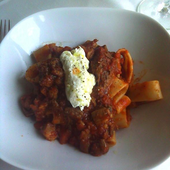 Rustic Bolognese, beef short rib, braised pork @ Cena