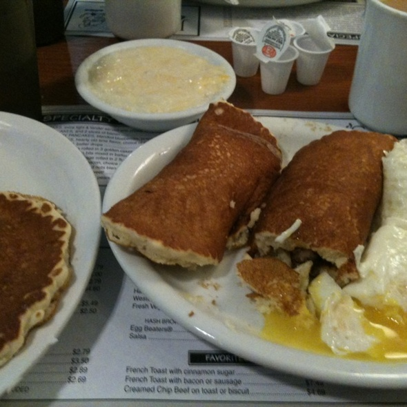 Sausage Wrapped In Pancakes @ Joeys Pancake House