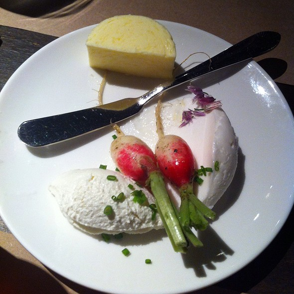 Cultured Butter, Whipped Lardo, And Radishes