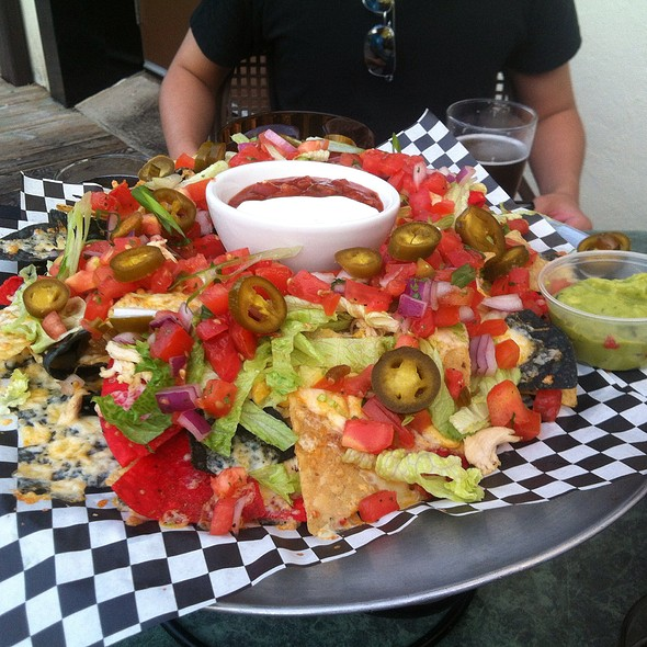 Chicken Big Plate Nachos With Guacamole @ Barley Works Bar & Grill