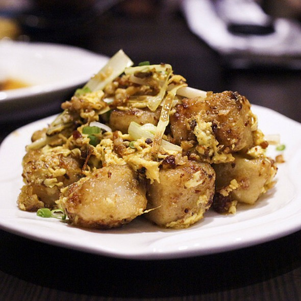 Fried Carrot Cake With Xo Sauce