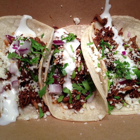 Mole Pobalano Chicken Tacos @ Contigo
