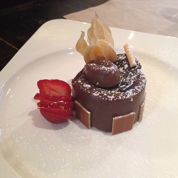 Dark Chocolate Mouse Cake - La Vecchia Ristorante, Toronto, ON