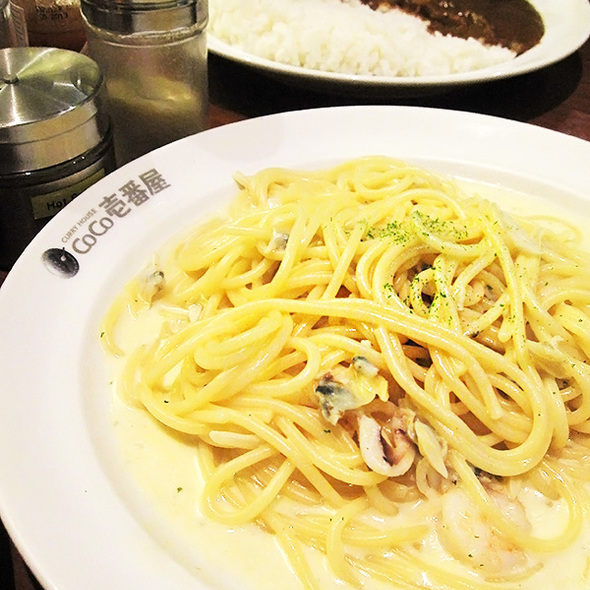 Seafood Spaghetti in Cream Sauce @ CURRY HOUSE CoCo ICHIBANYA (The Esplanade)