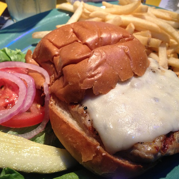Turkey Burger With French Fries  @ Wipeout Bar and Grill