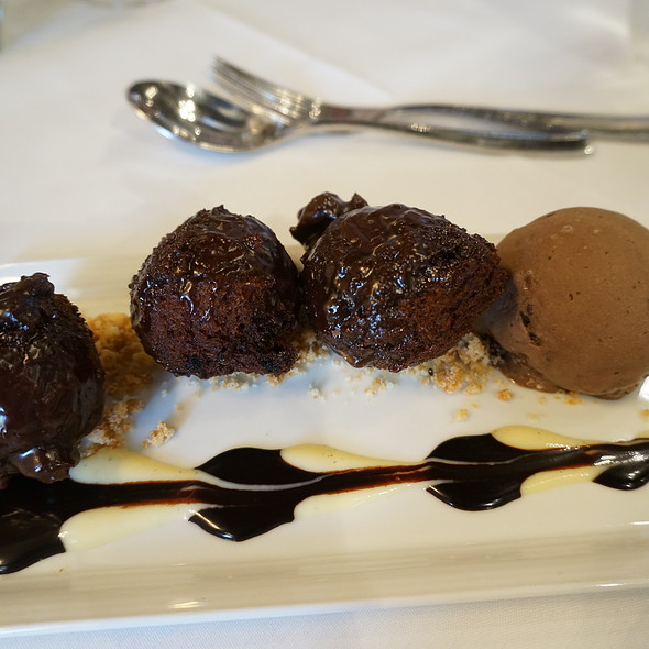 Chocolate-chevre doughnuts with cappuccino ice cream - Wine Cask - Santa Barbara, Santa Barbara, CA