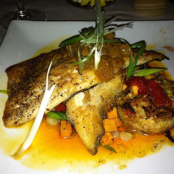 Nc Trout Seared With Hoppin John & Crab Souffle - Stella's Bistro - Simpsonville, Simpsonville, SC