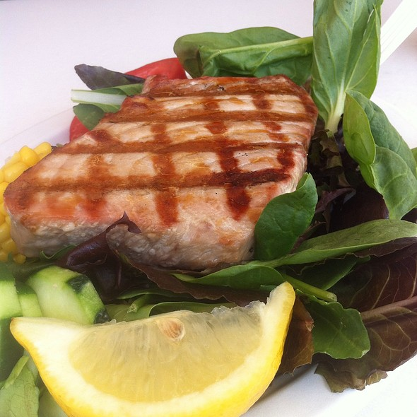 Grilled Tuna Over Greens