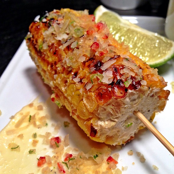Grilled Mexican Style Corn, Confit Aioli, Lime Zest, Paramgiano Reggiano, Chili - The Grille Fashion Cuisine, Wellington, FL