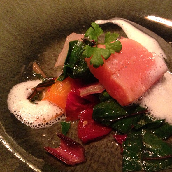 Home Smoked Trout With Chard And Fennel Foam @ Labstelle